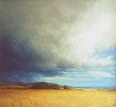 Oil painting - landscape in Angus