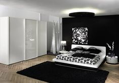 cozy black and white bedroom ideas with nice furniture