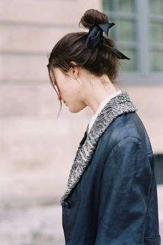ribbon around a top knot