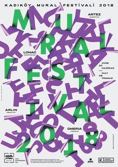 """kadıköy mural festival by erman yilmaz / turkey, 2018 / digital print, 841 x 1189 mm Calligraphy Lessons, Calligraphy Artist, Festival Posters, Art Festival, Graphic Design Posters, Graphic Design Inspiration, Typography Letters, Lettering, Digital Print"