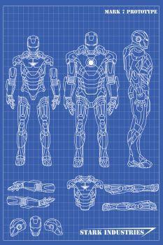 DeviantArt: More Like Ironman Suit Blueprint by r3p1icat0r