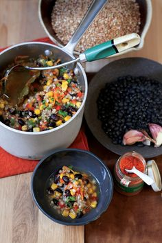 Buckwheat-Black Bean Soup Recipe | Vegetarian Times....Buckwheat is not a wheat at all it is a seed.....it is Gluten Free!!!!