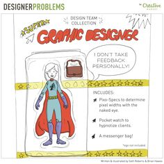 On the Creative Market Blog - Designer Problems 28: It's a bird! It's a plane! No, it's...