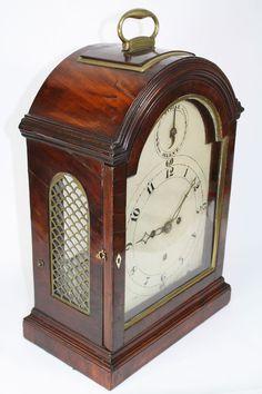 English Mahogany Verge Bracket Clock, Made for the Philadelphia Market c.1800