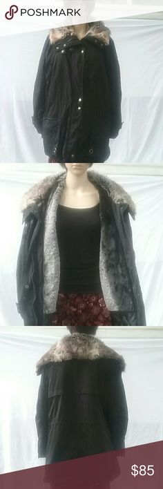 Seventh Ave  Coat Winter coat with removable ves. Fur collar it is really worm for those winter days. Never been worn. Seventy Ave  Jackets & Coats Puffers