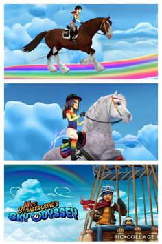 Hey the rainbow is here so enjoy it ! Star Stable, Stables, Rainbow, Horses, Poster, Rain Bow, Rainbows, Horse Stables, Run In Shed