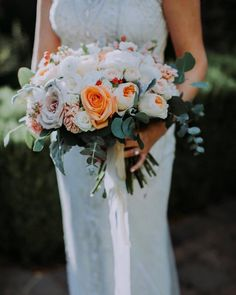 A pretty bouquet with silk ribbon for this intimate Napa destination elopement. Tan Wedding, Wedding Events, Weddings, Silk Ribbon, Wine Country, Ribbons, Linens, Bouquets, Catering