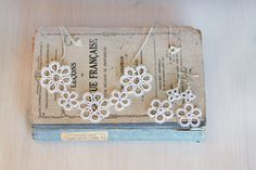 Tatted bridal jewelry set necklace and earrings in pre by smaks, €33.50