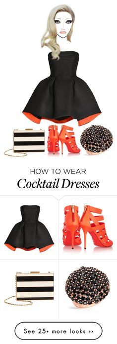 """Orange You Happy?"" by taebrikel on Polyvore featuring Parlor, Jimmy Choo and Valentino"