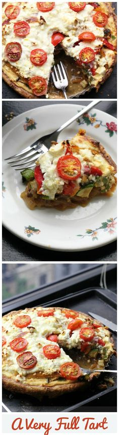 Stuffed with bell peppers, eggplant, sweet potato, zucchini, onions, ricotta, and feta, this summer tart is a summer vegetable dream!