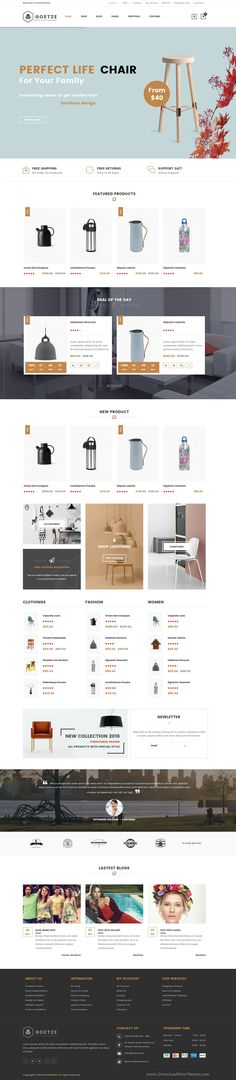 Goetze Responsive WooCommerce WordPress #Theme is especially designed for online #store #website which sell premium furniture products and #houseware products. Download Now!