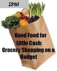Good Food for Little Cash: Grocery Shopping on a Budget of $250  This article has tips, a menu, recipes, and a grocery list. This has saved my grocery budget; due to the leftovers there are months that we still have enough groceries to carry over into the next month.