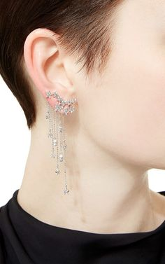 One of a Kind Once Upon a Time Earrings by Lydia Courteille for Preorder on Moda Operandi