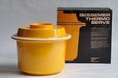 Nylex Bessemer Thermo Serve designed by Lionel Suttie Melamine Dinnerware, Tableware, Vintage Kitchen, Retro Vintage, Living Spaces Furniture, Victoria Australia, Shades Of Yellow, Industrial Design, Nostalgia