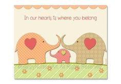 Items similar to Baby elephant decor - In our Hearts - baby room decor, nursey Art Print on Etsy Elephant Nursery Art, Elephant Shower, Baby Elephant, Girl Nursery, Nursery Ideas, Having A Baby Boy, Baby Room Decor, Nursery Decor, Baby Prints