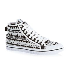Women's Adidas Originals Honey Mid Ef W Shoes - Black/Running White