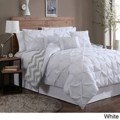 Avondale Manor Ella Pinch Pleat Reversible 7-piece Comforter Set - Free Shipping Today - Overstock.com - 16675730 - Mobile