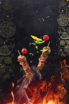 restaurant dinner pepper,roast,restaurant,dinner,b - Restaurant Poster, Restaurant Menu Design, Food Graphic Design, Food Menu Design, Food Poster Design, Meat Seasoning, Food Backgrounds, Meat Chickens, Dressing