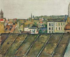 Paul Cézanne (French, Roofs of Paris (Les Toits de Paris), Oil on canvas Claude Monet, Van Gogh, Paul Cezanne Paintings, Catalogue Raisonne, Paris Painting, Art Ancien, Marc Chagall, Aix En Provence, Post Impressionism