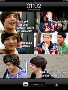 one direction + meangirls! Haha, Louis!