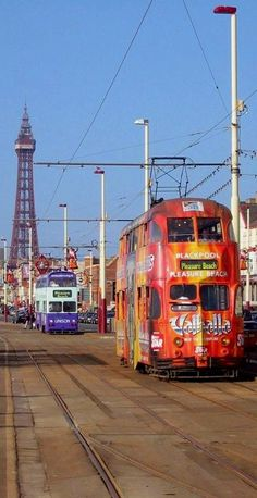 ~Blackpool, England~ A holiday with my sister's family - hub and two kids. I remember high jinx on the tram at the end of a tired day. British Seaside, British Isles, England And Scotland, England Uk, Blackpool Pleasure Beach, Blackpool England, Bonde, Seaside Towns, Places Of Interest