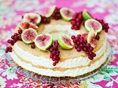 This frozen cheesecake is AMAZING. Really easy, but absolutely tasty, and the fresh fruit on top makes a beautiful presentation.