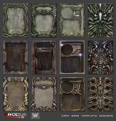 "Card Game Design Template Unique ""avp the Hunt Begins Boardgame Card Templates On Behance Game Card Design, Board Game Design, Trading Card Template, Card Templates, Blank Playing Cards, Card Ui, Web Design, Game Interface, Game Art"
