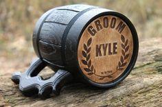 Jarra de cerveza personalizada taza de por WoodenShopTreasures