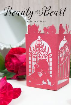 Beauty and the Beast Paper Lantern Beauty and the Beast Paper Lantern – Designs By Miss Mandee. Get ready for the Beauty and the Beast [. Disney Diy, Disney Tangled, Disney Crafts, Beauty And The Beast Silhouette, Beauty And The Beast Movie, Beauty Beast, Kirigami, Diy And Crafts, Paper Crafts
