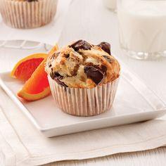 Muffins aux poires et chocolat noir - Les recettes de Caty