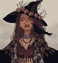 "muna (@munadraws) on Instagram: ""The golden witch, from my witch series!! #art #witch"""
