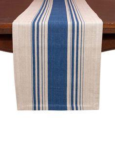 Cote Herringbone Stripe Cotton Runner by KAF Home at Gilt