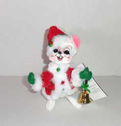 """New Annalee 6"""" Santa Mouse Christmas Doll Figure, dated  2010, 75th Anniversary #Annalee #christmas #gifts"""