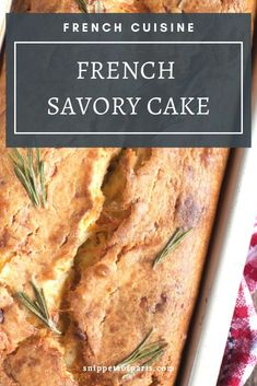 Easy to prepare, the savory cake is usually served as an appetizer during a French apéro. They are easy to cook in advance and freeze, and serve as breakfast. Lunch Recipes, Easy Dinner Recipes, Appetizer Recipes, Savoury Recipes, Easy French Recipes, Simple Recipes, French Appetizers, Classic French Dishes, French Cake