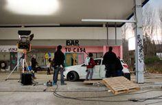On the set of Con Buenas Intenciones - exterior filming in Navaluenga, Avila, Spain
