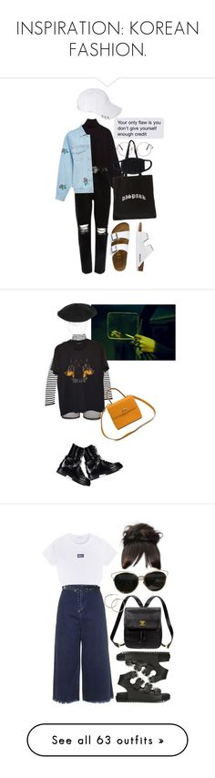 """INSPIRATION: KOREAN FASHION."" by chandele ❤ liked on Polyvore featuring Ksenia Schnaider, TravelSmith, Bitching & Junkfood, Givenchy, Silver Spoon Attire, Valentino, CÉLINE, Alexander Wang, Topshop and Kate Spade"