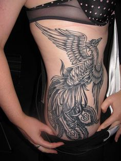 Phoenix Tattoo  A bit large for my taste, but love the design