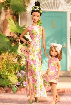 Lilly Pulitzer Barbie and Stacie Dolls