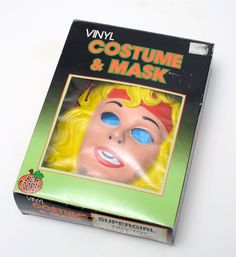 Supergirl costume mask box vintage halloween Ben Cooper Collegeville NR