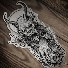 VK is the largest European social network with more than 100 million active users. Satanic Tattoos, Evil Tattoos, Spooky Tattoos, Black Tattoos, Tattoo Outline Drawing, Tattoo Design Drawings, Tattoo Sketches, Chicano Tattoos Sleeve, Body Art Tattoos