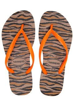2d89ca83b90557 Havaianas Slim Animals Fluo Rose Gold Terlik Roze