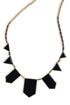 Black Collar Geometry Irregular Pendant Necklace