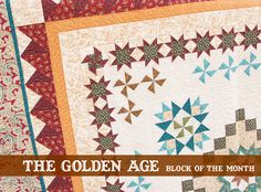 The Golden Age Block of the Month - Fat Quarter Shop's Jolly Jabber Star Quilts, Quilt Blocks, Find Your Friends, Block Of The Month, Fat Quarter Shop, Quilt Kits, Quilting Tutorials, Golden Age, Quilt Patterns