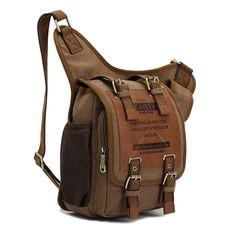 Neu Herren Damen Vintage Canvas Rucksack Retro Rucksack Tasche Männer Männlich Jungen Triangle Bag Brusttasche Klassische Einzel Schulter Umhängetasche: Amazon.de: Koffer, Rucksäcke & Taschen