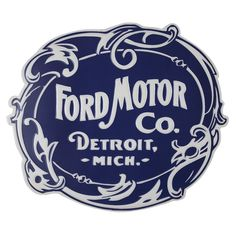 Showcase your appreciation for old school car memorabilia with the Vintage Ford Logo Metal Wall Art. Crafted of metal with an embossed finish, this sign highlights the company's popular logo from bringing Detroit pride to any bare wall. Metal Wall Decor, Metal Wall Art, Motor Company Logo, Vintage Signs, Vintage Cars, Car Signs, Ford Classic Cars, Classic Trucks, Logo Nasa