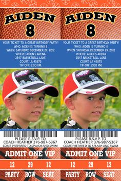 Basketball party ticket invitation You decide by PhoterrificCards, $15.00