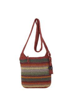 We've updated our best selling casual classics crossbody and you'll love it! Soft and casual, the crossbody features The Sak signature crochet weave in new colors and stripes. Crochet Handbags, Crochet Purses, The Sak Handbags, Shoulder Handbags, Boho Crossbody Bag, Crochet Purse Patterns, Crochet Shell Stitch, White Shoulder Bags, Shoulder Strap