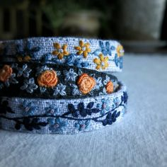 More bracelets waiting to be listed in my shop. #textileartjewelry #etsyhandmade