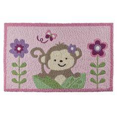 Girl monkey rug for nursery Monkey Nursery, Princess Nursery, Monkey Girl, My Baby Girl, Baby Girls, Bath Rugs, Rug Hooking, Baby Items, Safari