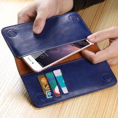 Floveme cuoio reale del raccoglitore del sacchetto sacchetto del telefono per iphone 7 6 s plus 5 s di lusso case della borsa della copertura per samsung galaxy s6 s7 a5 a7 A3